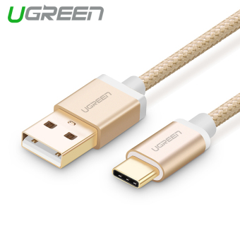 Harga UGREEN 3m USB Type C Data Sync and Charger Cable Aluminium Case Braid Design (Gold)