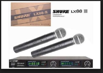 Harga Shure Mic Wireless Lx88 Lll 2Ch Tampilan Angka Frequency