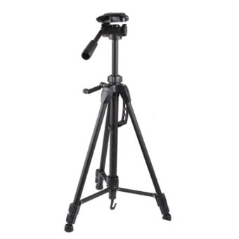 Harga Weifeng Portable Lightweight Tripod Stand Max Height 1.5m - WT-3730 - Hitam