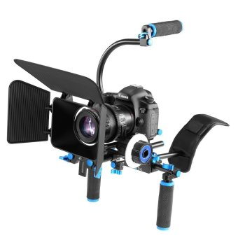 Harga Yelangu Dslr Camera Rig Movie Kit matte box & Follow Focus & Shoulder pad for 5d2 5d3 5DII 5DIII Video Camcorder and camera - intl