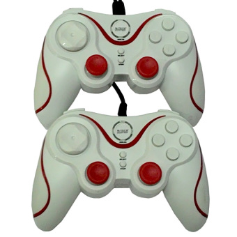 Harga M-Tech Gamepad Double Getar Inferno - Putih