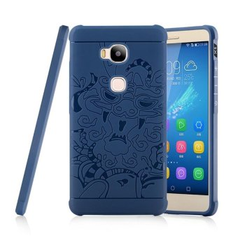 Harga Soft Silicone Anti-knock Case for Huawei Honor 5X / Huawei GR5(5.5 inch) - Sapphire Blue - intl