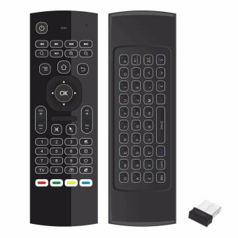 Harga 2.4G Backlight Air Mouse Wireless Keyboard 6-Axis Somatosensory Remote Control Motion Sensing Game IR Learning Buttons for Mini PC Smart TV Android TV Box Projector - intl