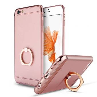 Harga Phone Case with Rotating Ring Kickstand for Apple iPhone 6 Plus/6s Plus 5.5 Inch (Rose Gold)
