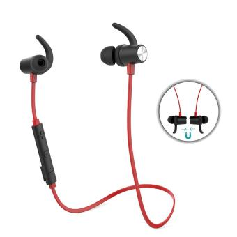 Harga dodocool Magnetic Wireless Stereo Sports In-Ear Headphone with HD Mic CVC 6.0 Noise Cancellation for Most Bluetooth-enabled Smart Devices Red - intl