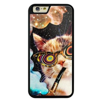 Harga Phone case for iPhone 6Plus/6sPlus Galaxy Hipster Cat cover for Apple iPhone 6 Plus / 6s Plus - intl