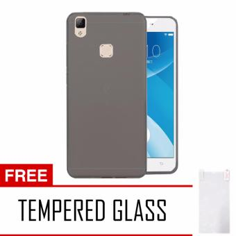 Harga Softcase Vivo V3 Max Ultrathin Aircase - Hitam + Tempered Glass