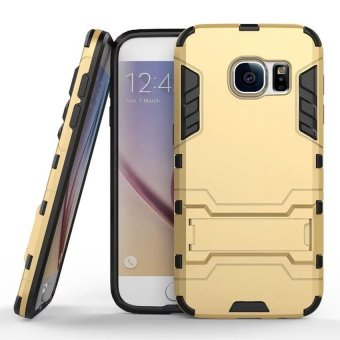 Radical Case Samsung Galaxy S7 Edge Shield Armor Kickstand Avenger Series Gold .