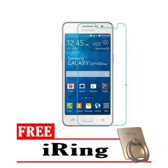 Tempered Glass Samsung Galaxy Grand Prime Screen Protector Putih Transparant Free iRing .