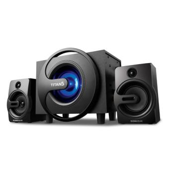 Harga SonicGear Titan 5 With 7 Colors Pulsating Led Woofer - hitam