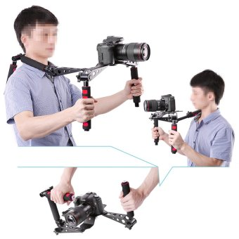 Harga Neewer DSLR Foldable Rig Movie Kit Shoulder Mount Steady Rig for Camera Camcorder (Red)