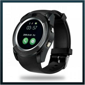 Harga Smartwatch KINwatch Polaris Smart Watch V8 Support Camera Support Sim Card & SD Card for Android IOS - Hitam
