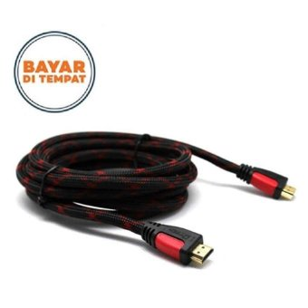 Harga HDMI Male to Male Cable Kabel HDMI 1.5 Meter - Hitam/Merah