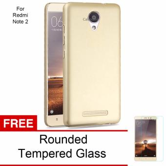 Harga Calandiva 360 Degree Protection Case for Xiaomi Redmi Note 2 / Redmi Note 2 Prime / Redmi Note 2 Pro ( Gold ) + Free Tempered Glass