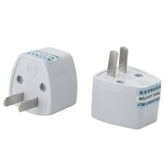 Harga BU 2 Pcs Universal EU/UK/AU to US USA AC Travel Power Adapter Converter Plug - intl