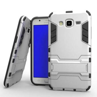 [Heavy Duty] [Shock-Absorption] [Kickstand Feature] Hybrid Dual Layer Armor Defender Full Body Protective Case Cover for Samsung Galaxy J7 J700 2015 - intl