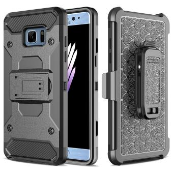[Aegis Series] Heavy Duty Rugged Full-Body Armor Holster Case [Belt Swivel Clip [Kickstand] For Samsung Galaxy S7, Black. Not Fit Samsung Galaxy S7 Edge - intl