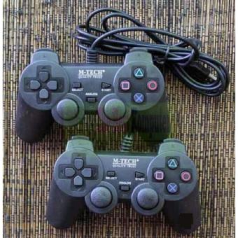 Harga M-Tech Gamepad Double Getar Black - Stick PC/ Laptop...
