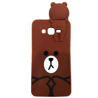 Harga Intristore Line Brown Soft SIlicon Phone Case Samsung Grand Prime