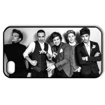 Harga niceEshop One Direction Members Photo Snap On Hard Case Cover for IPhone4 4G 4S (Black/White)