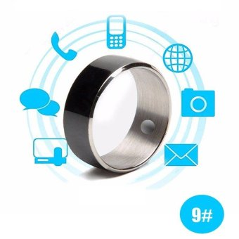 Harga Jakcom R3F Waterproof Smart Ring App Enabled Wearable Technology Magic Ring For iOS Android Windows NFC Smartphones(Size 9) - intl