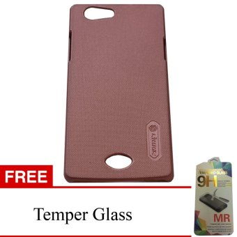 Nillkin Super Frosted Shield Hard Case for OPPO Neo 5 - Rose Gold + Gratis Temper