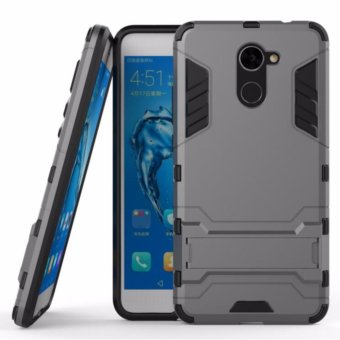 Harga Hard Plastic + TPU Combo Armor Bracket Protective Cover Case For Huawei Enjoy 7 Plus (Grey) - intl