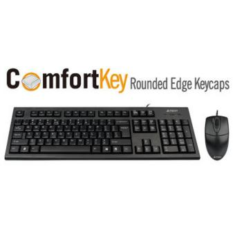 Harga A4Tech KR-8520D USB KEYBOARD + MOUSE SETS BLACK