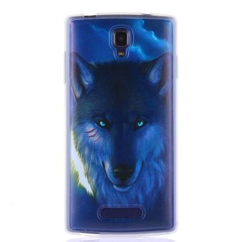 Harga Wolf Clear Edge Soft Silicon Painting Back Cover Case For OPPO Neo 3 R831S (Multicolor) - intl.