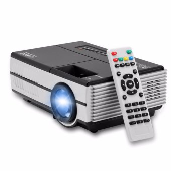 Harga EUG Mini Pico Projector 600D with TV Tuner - Hitam/Silver