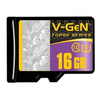 Harga Vgen Memory Card 16GB Class 10 Orignal V-GEN Turbo Series Packing + External Adapter