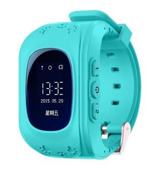 Harga niceEshop Kids Safe GPS/GSM Watch Wristwatch SOS Call Anti Lost Smartwatch For Kids, Blue