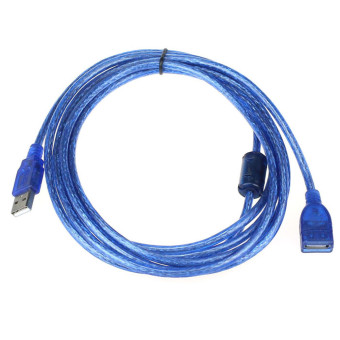 10FT 3M USB 2.0 A Male M to A Female for Extension Cable (Blue)