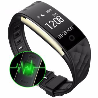 Harga S2 Bluetooth 4.0 Smart Band Wristband Heart Rate Monitor OLED Smartband Fitness Step Bracelet For Android IOS Phone pk fitbits - intl