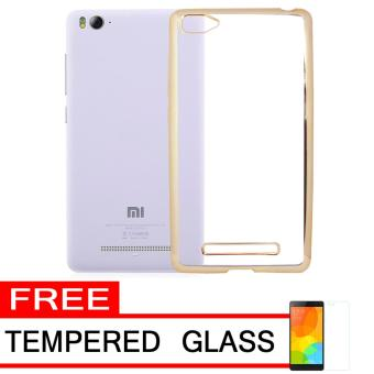 Softcase Silicon Jelly Case List Shining Chrome for Xiaomi Mi 4i - Gold + Free Tempered