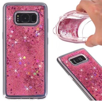 Harga Shining Soft Dynamic Liquid Glitter Sand Flow TPU Gel Case Cover for Samsung Galaxy S8(Rose Gold) - intl