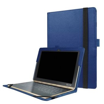 Harga Slim-Book Stand PU Leather Case Cover for Lenovo Yoga Book 10.1 (Blue) - intl