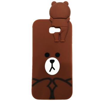 Harga Intristore Line Brown Soft SIlicon Phone Case Samsung J5 Prime