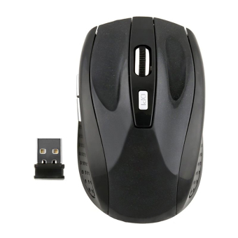 Harga Moonar 2.4 gHz Wireless Mouse USB Optik Tikus Hitam