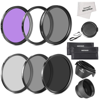 Harga Neewer 52MM LENS FILTER ACCESSORY KIT(FILTER KIT+ND KIT+RUBBER LENSHOOD) (Intl) - intl