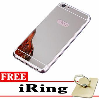 ... Case Metal for Vivo V5 Y67 Aluminium Bumper With Mirror Backdoor Slide Silver