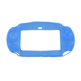 Harga VR_Tech Silicone Protector Cover for PlayStation PS Vita 2000 (Blue) - intl