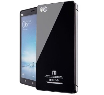 Harga Back Case Tempered Glass Series For Xiaomi Mi 4i / Mi 4c Silver - Hitam