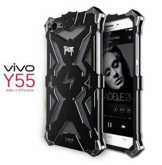 Aluminum Metal Frame Back Cover Case for Vivo Y55 (Black) - intl