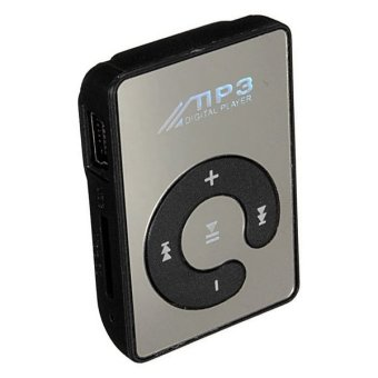 Harga Teiton MP3 Player TF Card Mini with Small Clip Ringan Kecil Jogging Sport - Hitam