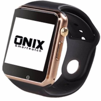 Harga Onix Smart Watch A1 / U10 / Apple Watch Look Like - Gold Strap Black