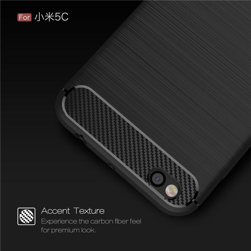 ... Kenzoe Case Premium IPaky Carbon Fiber Shockproof Hybrid Back Case for Xiaomi Mi 5c / Mi5c ...