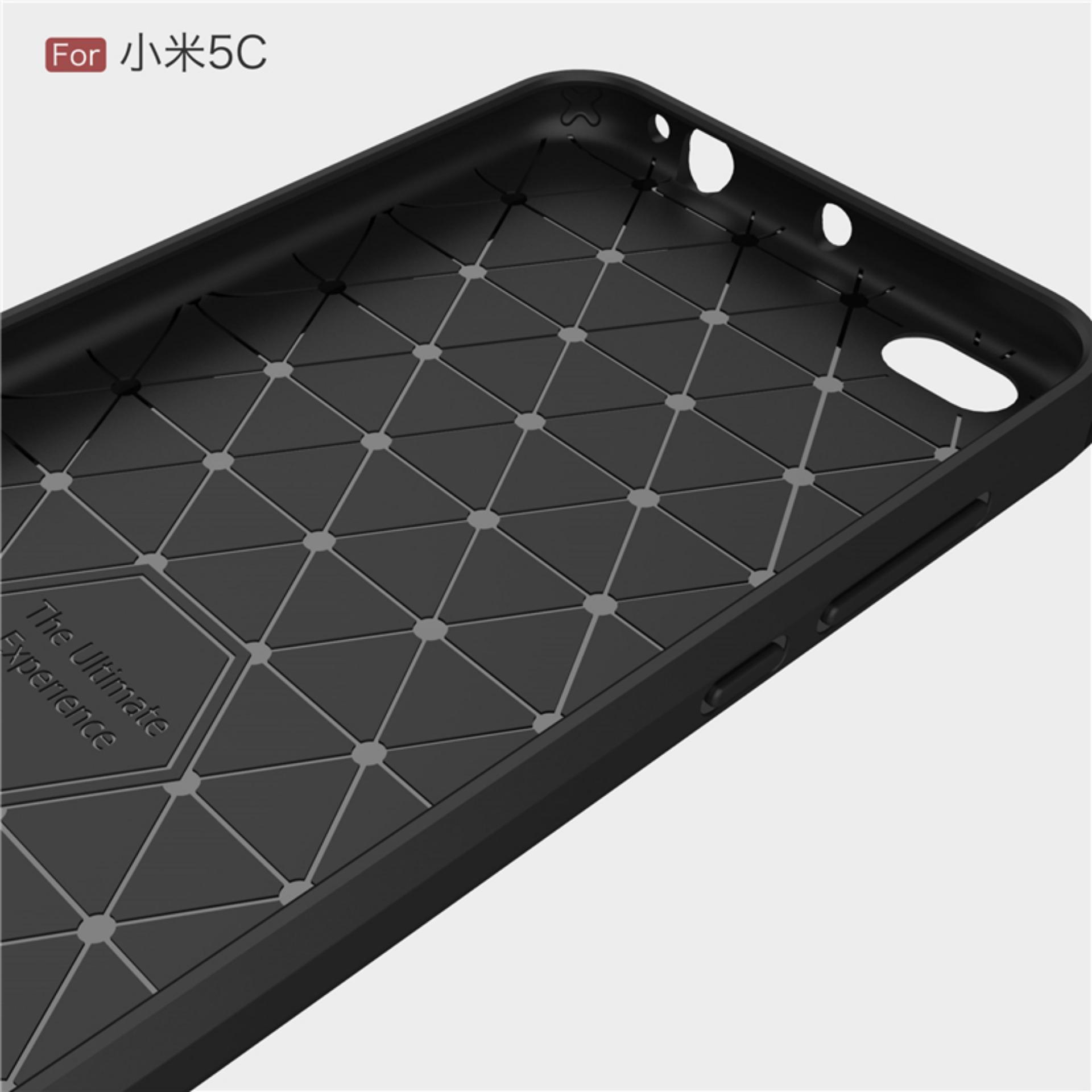 Renzana iPaky Carbon Fiber Shockproof Hybrid Back Case for Xiaomi Mi 5c /