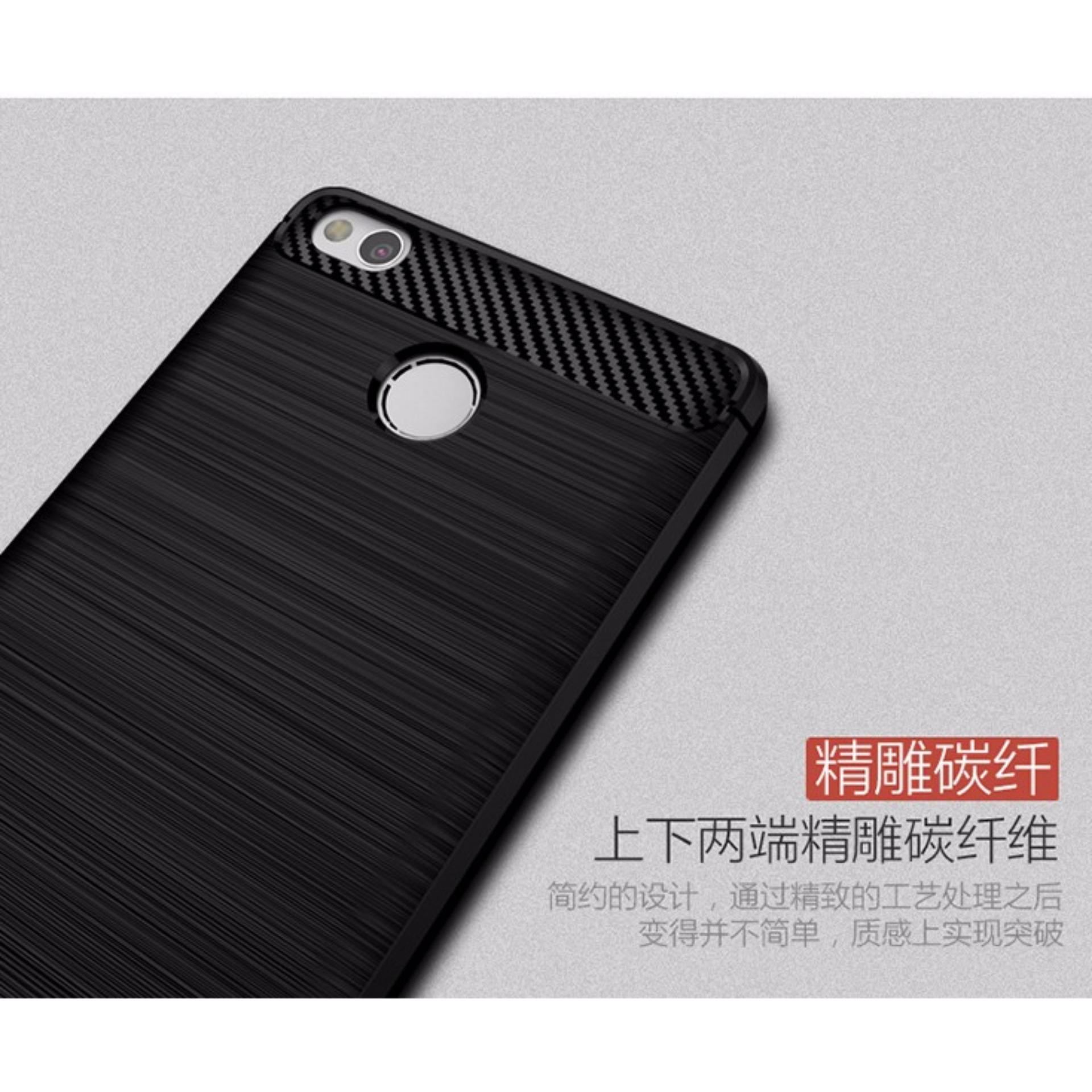 ... iPaky Carbon Fiber Shockproof Hybrid Back Case for Xiaomi Redmi 3 Pro / 3s / Prime ...