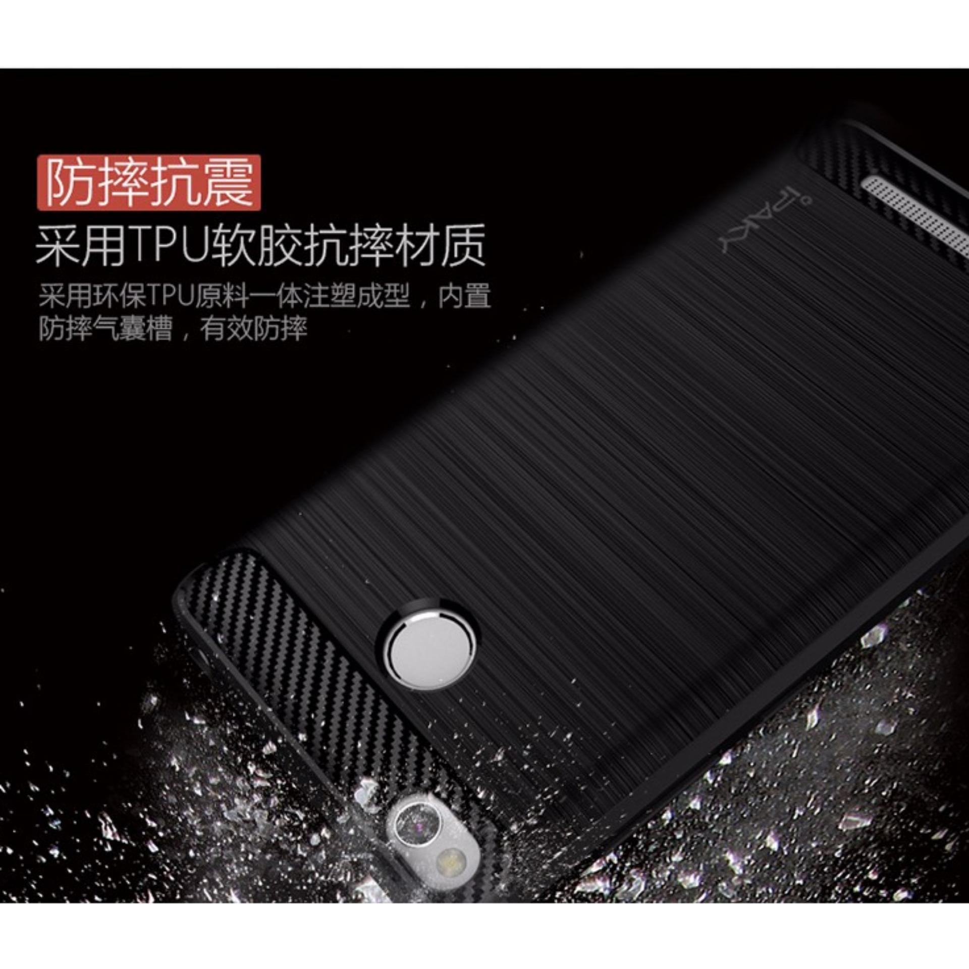 ... 4x Hitam Source · iPaky Carbon Fiber Shockproof Hybrid Back Case for Xiaomi Redmi 3 Pro 3s Prime